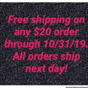 FREE SHIPPING ON $20 ORDER